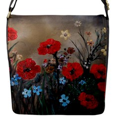 Poppy Garden Flap Closure Messenger Bag (Small)