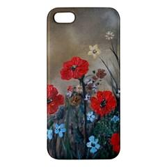 Poppy Garden iPhone 5S Premium Hardshell Case