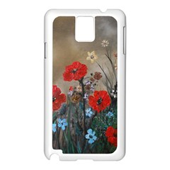 Poppy Garden Samsung Galaxy Note 3 N9005 Case (White)