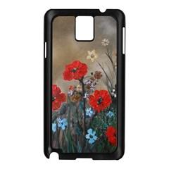 Poppy Garden Samsung Galaxy Note 3 N9005 Case (black)