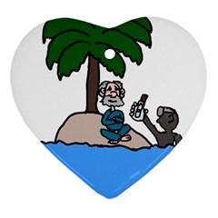 Desert Island Humor Heart Ornament