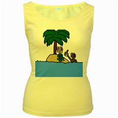 Desert Island Humor Women s Tank Top (Yellow)