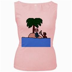 Desert Island Humor Women s Tank Top (Pink)