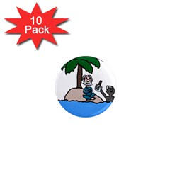 Desert Island Humor 1  Mini Button Magnet (10 pack)