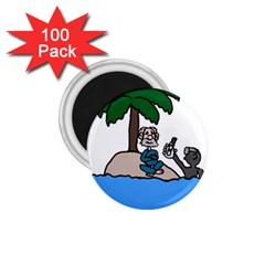 Desert Island Humor 1.75  Button Magnet (100 pack)