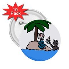 Desert Island Humor 2.25  Button (10 pack)