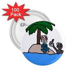 Desert Island Humor 2.25  Button (100 pack)