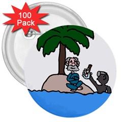 Desert Island Humor 3  Button (100 Pack)