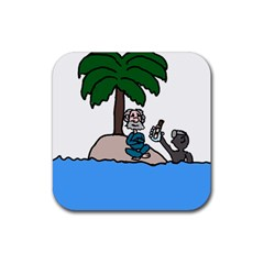 Desert Island Humor Drink Coasters 4 Pack (Square)