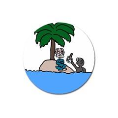 Desert Island Humor Magnet 3  (round)