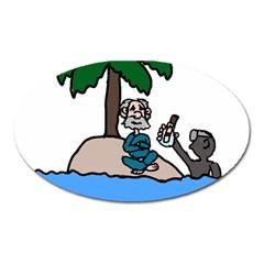 Desert Island Humor Magnet (Oval)