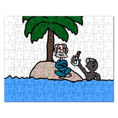 Desert Island Humor Jigsaw Puzzle (Rectangle)