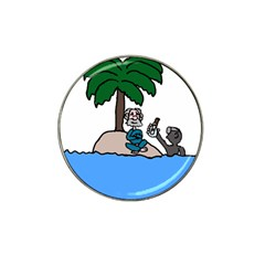 Desert Island Humor Golf Ball Marker (for Hat Clip)