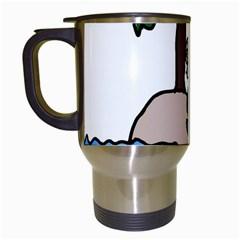Desert Island Humor Travel Mug (White)