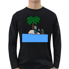 Desert Island Humor Men s Long Sleeve T-shirt (Dark Colored)