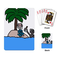 Desert Island Humor Playing Cards Single Design