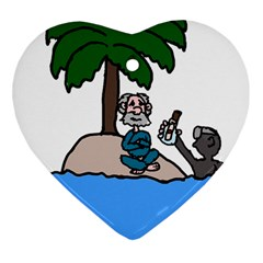 Desert Island Humor Heart Ornament (Two Sides)