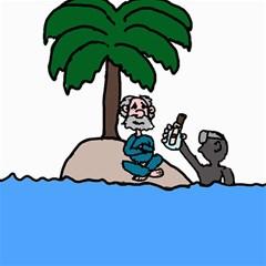 Desert Island Humor Canvas 12  X 12  (unframed)