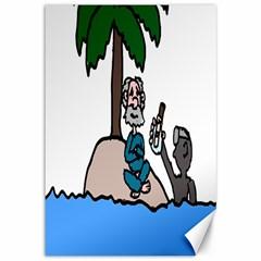 Desert Island Humor Canvas 12  x 18  (Unframed)