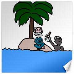 Desert Island Humor Canvas 16  X 16  (unframed)