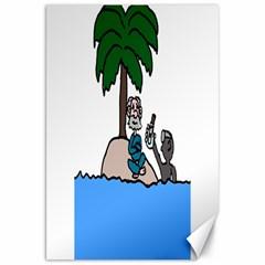 Desert Island Humor Canvas 20  X 30  (unframed)