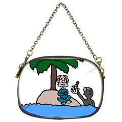 Desert Island Humor Chain Purse (One Side)
