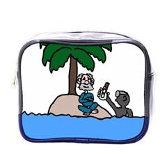 Desert Island Humor Mini Travel Toiletry Bag (one Side)