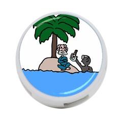 Desert Island Humor 4-Port USB Hub (Two Sides)