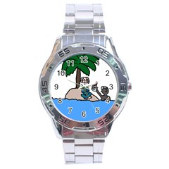 Desert Island Humor Stainless Steel Watch