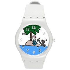 Desert Island Humor Plastic Sport Watch (medium)