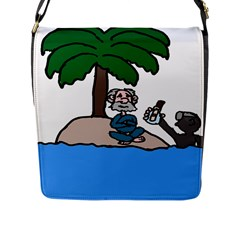Desert Island Humor Flap Closure Messenger Bag (Large)
