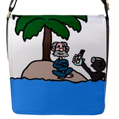 Desert Island Humor Flap Closure Messenger Bag (Small)