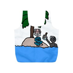 Desert Island Humor Reusable Bag (S)