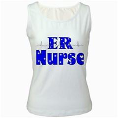 ER Nurse  Women s Tank Top (White)