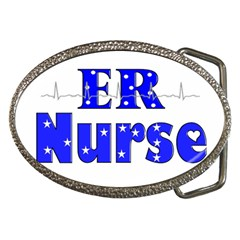 ER Nurse  Belt Buckle (Oval)