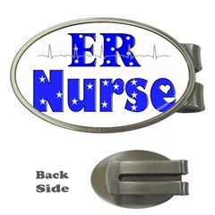 ER Nurse  Money Clip (Oval)
