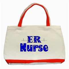 ER Nurse  Classic Tote Bag (Red)