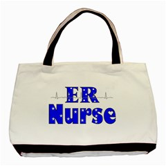 ER Nurse  Twin-sided Black Tote Bag