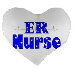 ER Nurse  19  Premium Heart Shape Cushion