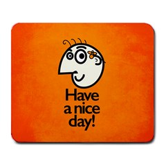 Have A Nice Day Happy Character Large Mouse Pad (rectangle)