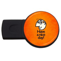 Have A Nice Day Happy Character 1GB USB Flash Drive (Round)