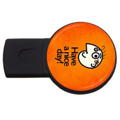 Have A Nice Day Happy Character 4GB USB Flash Drive (Round)