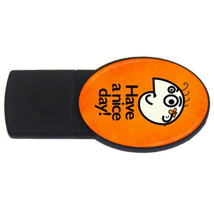 Have A Nice Day Happy Character 4GB USB Flash Drive (Oval)