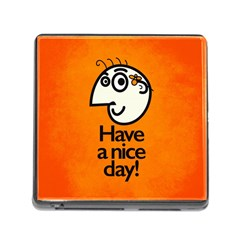 Have A Nice Day Happy Character Memory Card Reader with Storage (Square)