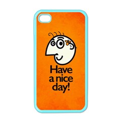 Have A Nice Day Happy Character Apple iPhone 4 Case (Color)