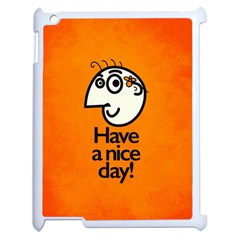 Have A Nice Day Happy Character Apple iPad 2 Case (White)