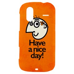 Have A Nice Day Happy Character HTC Amaze 4G Hardshell Case