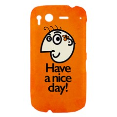 Have A Nice Day Happy Character HTC Desire S Hardshell Case