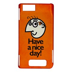 Have A Nice Day Happy Character Motorola Droid X / X2 Hardshell Case