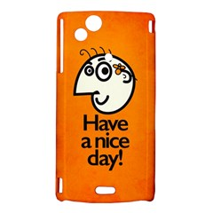 Have A Nice Day Happy Character Sony Xperia Arc Hardshell Case